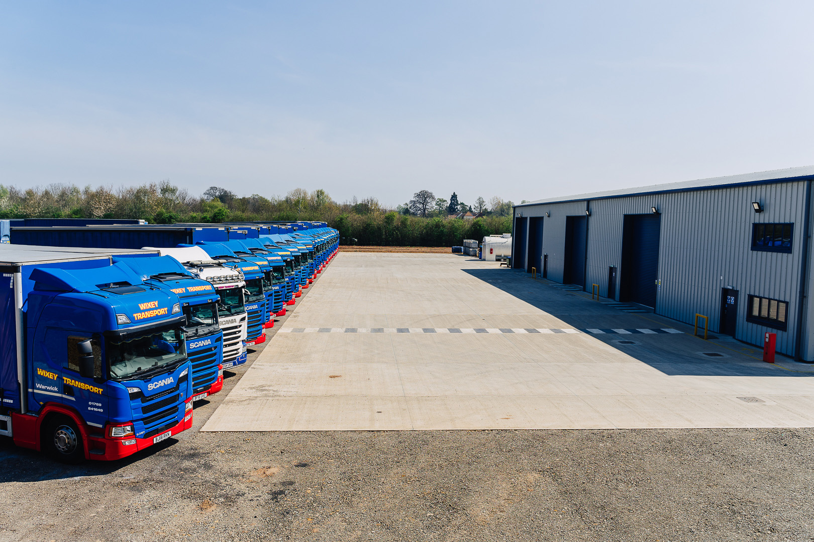Lorries and Warehouse